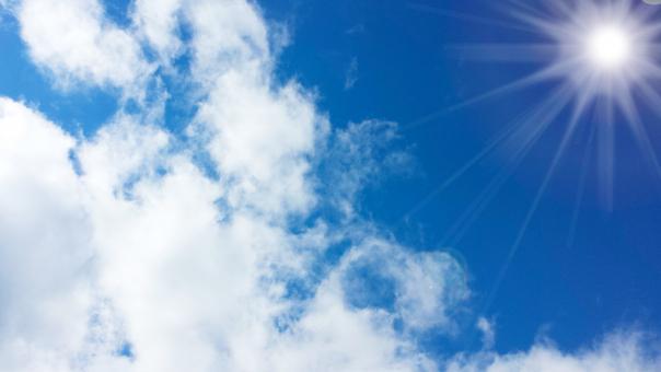 紫外線が強い晴の日
