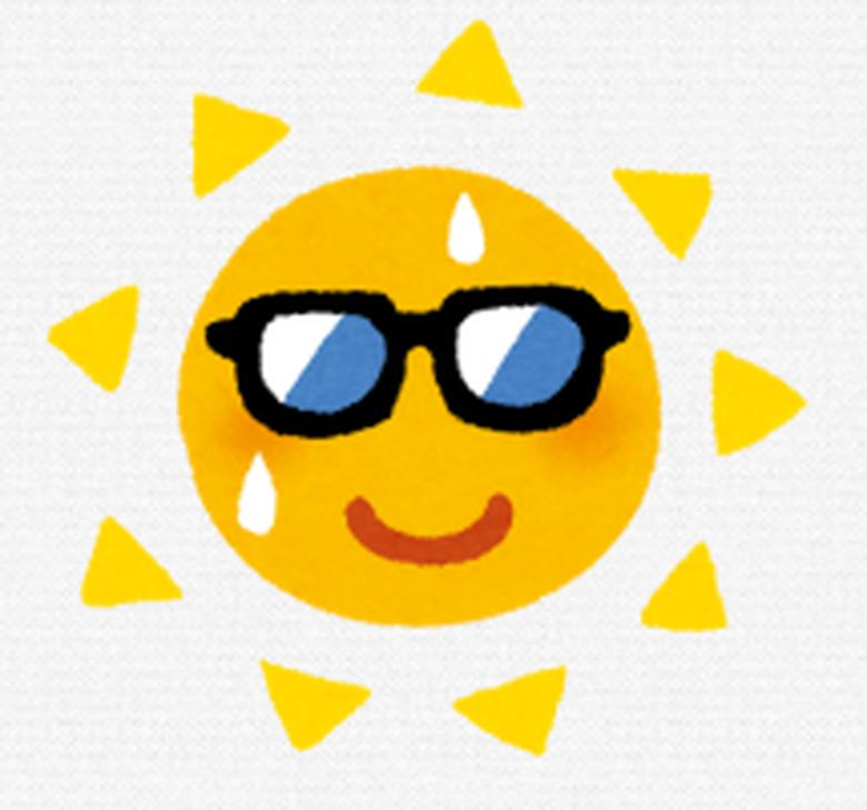夏の暑い太陽
