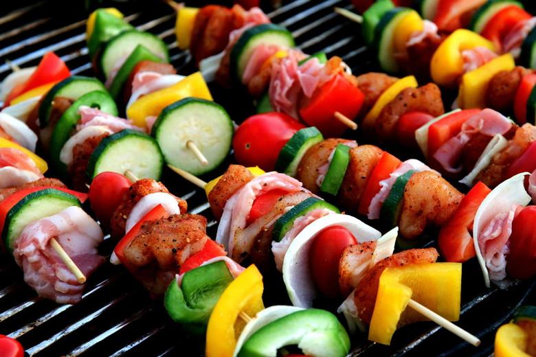 野菜串焼きのグリル