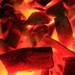 超高温の炭火