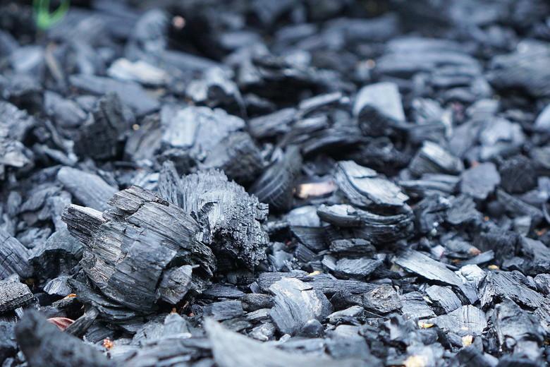 BBQで使った炭の残骸